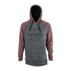 Yuki Threads Retro DWR Hoodie 2018 - Maroon / Charcoal