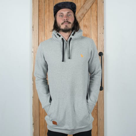 Yuki Threads Old Mate Slim Fit Hoodie 2018 - Heather Grey
