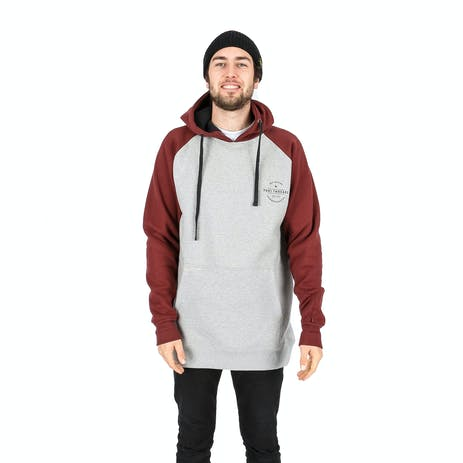 Yuki Threads Retro DWR Hoodie - Heather Grey / Maroon