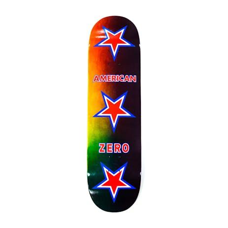 """Zero American Zero 8.5"""" Skateboard Deck - Rainbow"""