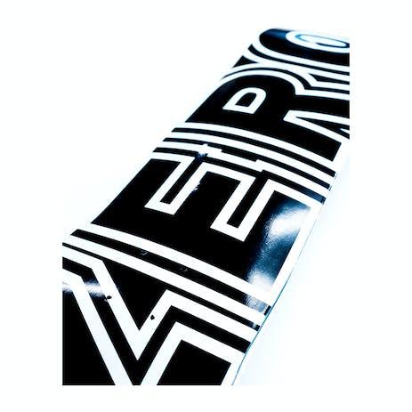 Zero Classic Bold Skateboard Deck - Black/White