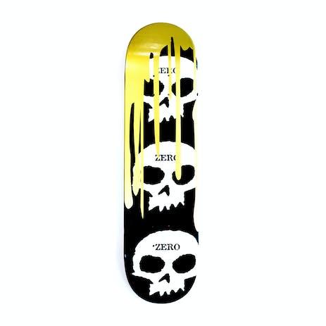 Zero 3 Skull Blood Skateboard Deck - Gold