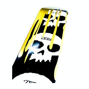 Zero 3 Skull Blood Skateboard Deck - Gold