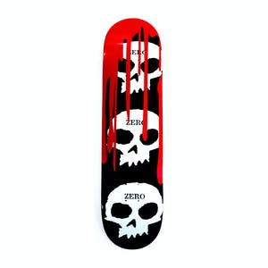 Zero 3 Skull Blood Skateboard Deck - Red