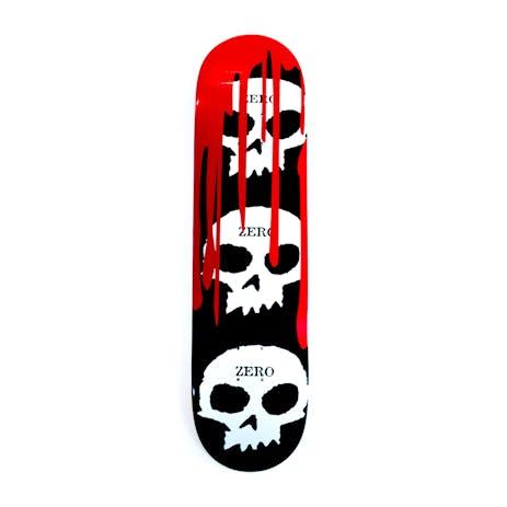 Zero 3 Skull Blood Skateboard Deck - Red
