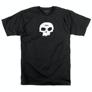 Zero Single Skull T-Shirt - Black/White