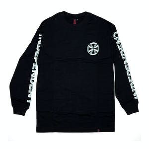 Independent Lines Long-Sleeve T-Shirt - Black