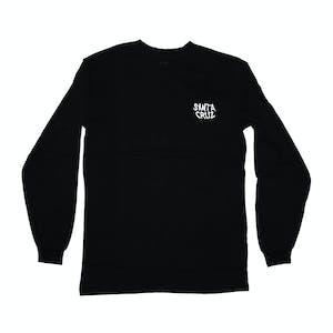 Santa Cruz Hybrid Hand Long-Sleeve T-Shirt - Black